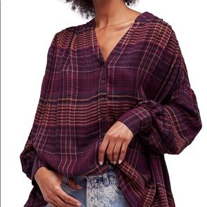 Free People Come On Over Plaid Shirt